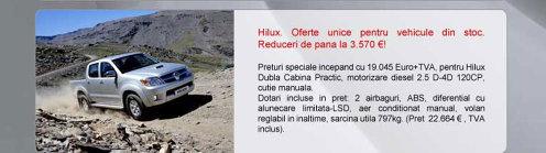Toyota Hilux - oferta aprilie 2009