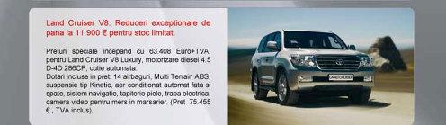 Toyota Land Cruiser V8 - oferta aprilie 2009