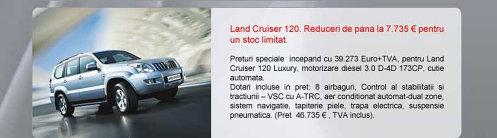 Toyota Land Cruiser 120 - oferta aprilie 2009