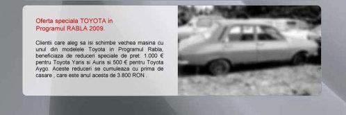 Toyota oferta rabla 2009- oferta aprilie 2009