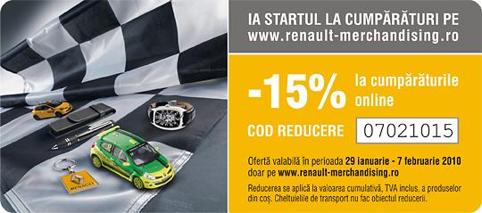 O gama variata de produse pentru fanii Renault si nu numai