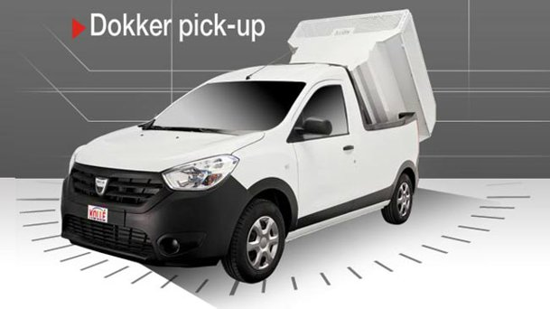 propunere de transformare dacia dokker pick up by kolle. Black Bedroom Furniture Sets. Home Design Ideas