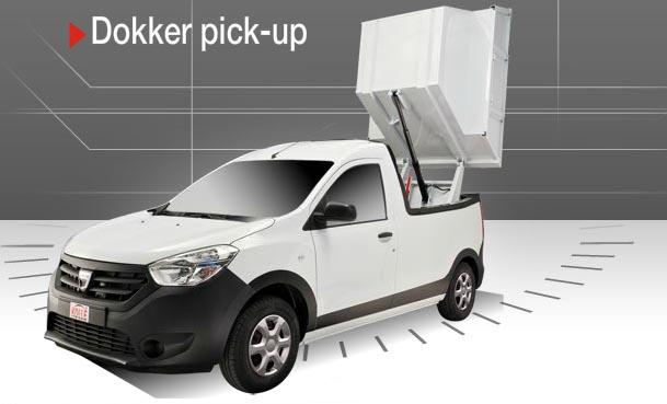 propunere de transformare dacia dokker pick up by kolle. Black Bedroom Furniture Sets. Home Design Ideas