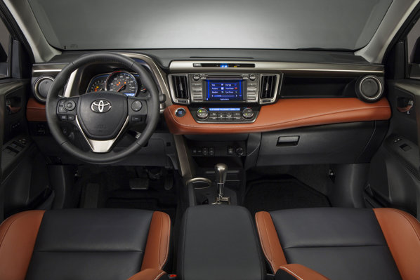 Toyota RAV4 2013 interior. Habitaclu.