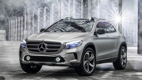 Primele imagini oficiale cu conceptul Mercedes-Benz GLA. VIDEO