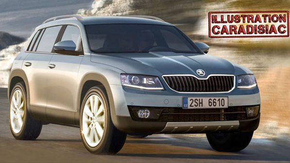 Skoda Grand Yeti ar putea fi primul SUV cu 7 locuri al cehilor
