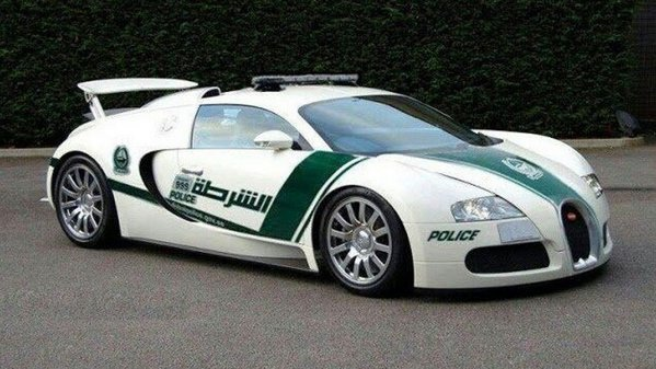 Bugatti Veyron de Poliie? Desigur. n Dubai...