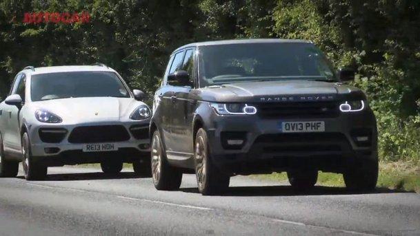 Autocar: Porsche Cayenne Turbo vs Range Rover Sport - test pe circuit şi offroad