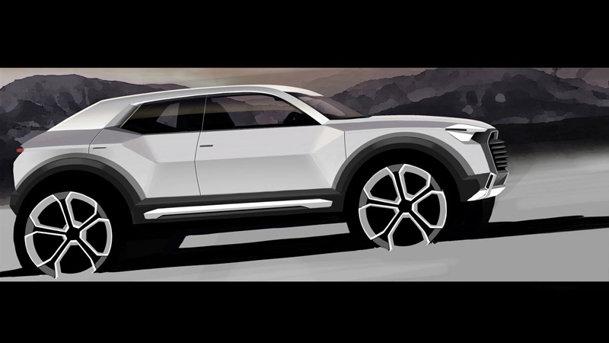 Audi a publicat prima schiţă oficială cu crossoverul Q1