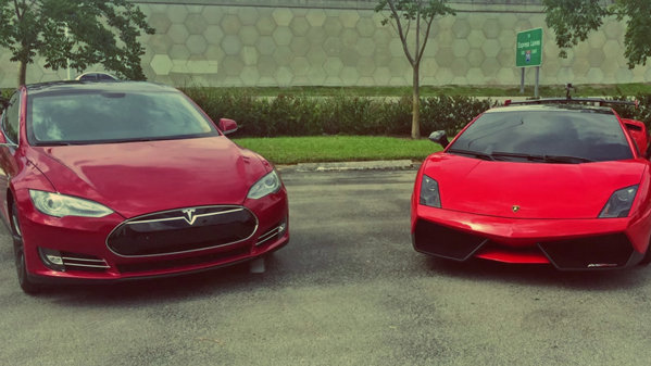 VIDEO: Tesla Model S vs. Lamborghini Gallardo Super Trofeo Stradale