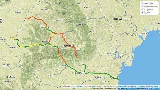 Aceasta este harta interactivă a autostrăzilor din România