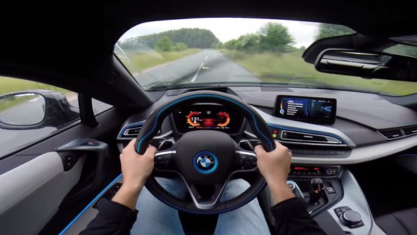BMW i8: acceleraţie 0-254 km/h. VIDEO