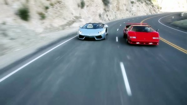Fantezie Lamborghini: Countach vs. Aventador, analogic vs. digital