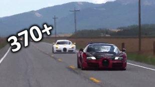 Distracţie la peste 370 km/h, pe drumurile publice, cu Bugatti Veyron