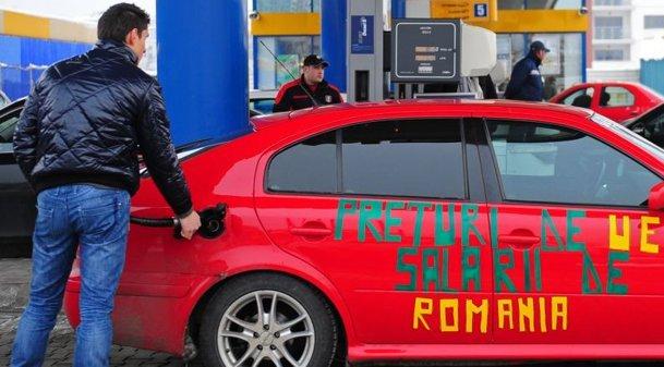 Preţul benzinei e aproximativ 4,50 lei/litru. Cât din această sumă sunt taxe şi impozite
