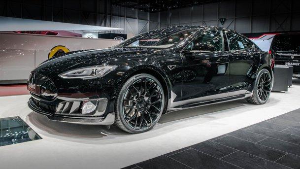 """O Tesla Model S """"aranjată"""" de Brabus, design electrizant şi zero emisii. GALERIE FOTO"""