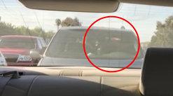 Un şofer blocat în trafic se uita în jur, când în spatele maşinii sale a văzut ceva INCREDIBIL. A scos imediat telefonul şi a filmat totul VIDEO
