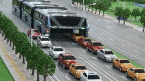 Viitorul transportului public - Poate transporta 1200 de persoane şi care circulă pe deasupra maşinilor | VIDEO