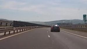 Scene incredibile pe o autostradă din România | VIDEO