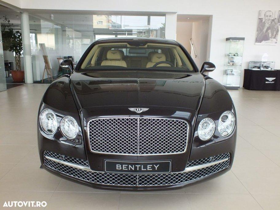 """Bentley Continental - 180.000 de euro. Descrierea maşinii: fabricat în 2013, capacitate cilindrică 5.998 cm3, motor pe benzină cu o putere de 625 CP/460 kW, TT8-Automatic Gearbox, culoare exterioară Havana (2T2T), culoare interioară Saffron (MA), scaune de piele, scaune încălzite electric, volan multifuncţional şi multe alte """"bunătăţi"""" demne de o maşină de lux."""