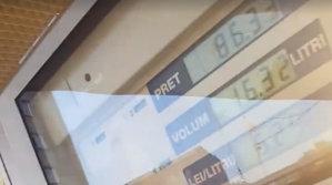 Pompa de benzină din România care încasează, deşi nu pune combustibil - VIDEO