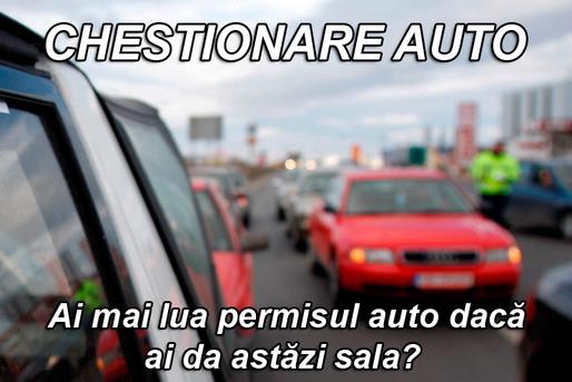 Chestionare auto. În ce ordine vor circula autovehiculele prin intersecţia prezentată, dacă semafoarele nu funcţionează?