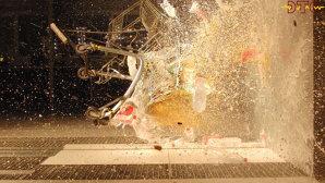 Accident cu un cărucior de cumpărături la 115km/oră! VIDEO