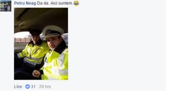 Reacţia cu care doi poliţişti români i-au dat shutdown unei fete pe Facebook