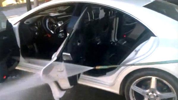 Uite cum NU se spală un  Mercedes CLS 350 [VIDEO]