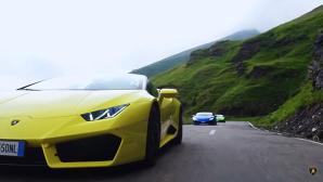 Lamborghini Huracan, test drive pe cel mai frumos drum din lume declarat de Top Gear, Transfăgărăşan