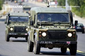 Convoiul militar era format din 15 autovehicule