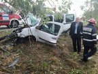 Cel mai ghinionist şofer: două accidente separate pe acelaşi drum, în 24 de ore