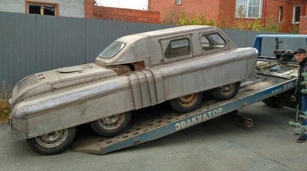 Maşină amfibie cu 8 roţi. De pe vremea când Rusia construia monştri - FOTO