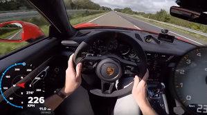 Un Porsche 911 GT3, pe Autobahn, la 309 km/h. Maşina sună şi accelerează demenţial - VIDEO