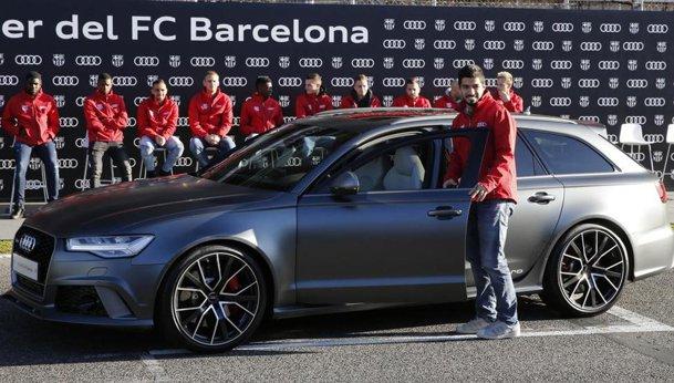 Barcelona şi-a ales maşinile Audi pe 2018. Messi şi Suarez sunt fraţi de cai