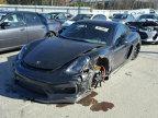 Porsche Cayman GT4 daună aproape totală, de vânzare la un preţ intrigant - FOTO