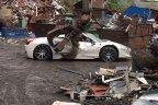 Condoleanţe proprietarului. Un Ferrari 458 Spider de 200.000 de lire, distrus pe nedrept chiar de Poliţie - VIDEO