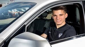 Maşina lui Ianis Hagi, implicată într-un accident