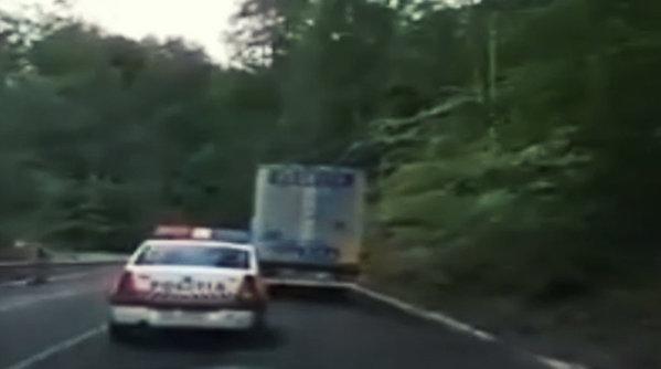 Poliţia în acţiune, pe serpentine - VIDEO