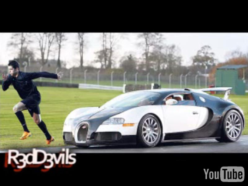imagini video cristiano ronaldo vs bugatti veyron. Black Bedroom Furniture Sets. Home Design Ideas