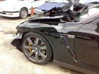 Nissan GT-R - accident în Malayezia