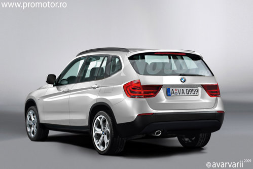 Spatele va fi o evolutie mai rotunjita a actualului BMW X3, iar gabaritul se va apropia de primul X5