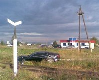 accident masina de lux, pe camp in Rusia