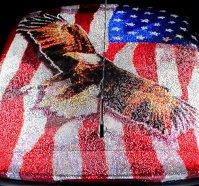 Drapelul SUA cu cristale
