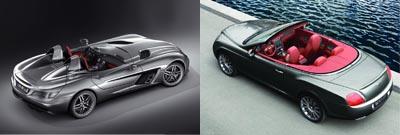Mercedes SLR McLaren Stirling Moss vs. Bentley Continental GTC Speed