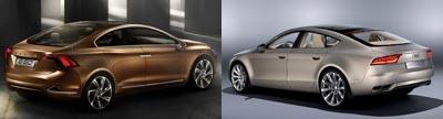 Volvo S60 Concept vs. Audi Sportback Concept