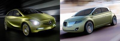 Mercedes BlueZero Concept vs. Lincoln C Concept