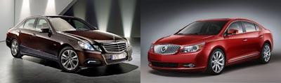 Mercedes Clasa E vs. Buick LaCrosse