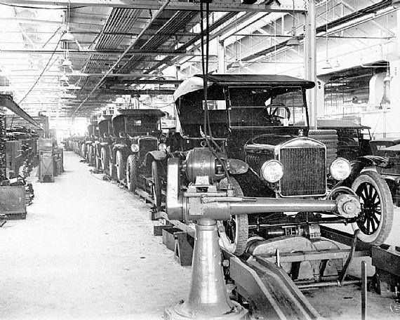Procesul de asamblare al lui Ford T