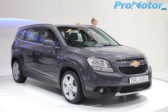 Noul Chevrolet Orlando inaugurat in premiera mondiala la Paris 2010